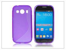 Samsung SM-G357FZ Galaxy Ace 4 szilikon hátlap - S-Line - lila