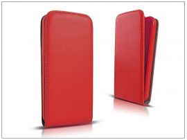 Slim Flexi Flip bőrtok - Samsung SM-G357FZ Galaxy Ace 4 - piros
