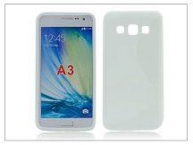 Samsung SM-A300F Galaxy A3 szilikon hátlap - S-Line - fehér