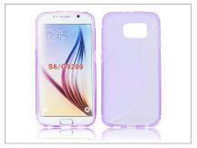 Samsung SM-G920 Galaxy S6 szilikon hátlap - S-Line - lila
