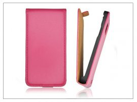 Slim Flip bőrtok - Samsung SM-G920 Galaxy S6 - pink