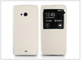 Microsoft Lumia 540 S-View Flexi oldalra nyíló flipes tok - fehér
