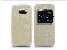 Samsung SM-G920 Galaxy S6 S-View Flexi oldalra nyíló flipes tok - golden