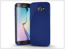 Samsung SM-G925 Galaxy S6 Edge szilikon hátlap - Jelly Bright 0,3 mm - kék