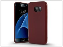 Samsung G930F Galaxy S7 szilikon hátlap - Jelly Bright 0,3 mm - burgundy