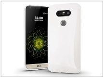 LG G5 H850 szilikon hátlap - Jelly Bright 0,3 mm - fehér