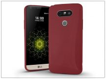 LG G5 H850 szilikon hátlap - Jelly Bright 0,3 mm - burgundy