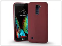 LG K10 K420N szilikon hátlap - Jelly Bright 0,3 mm - burgundy