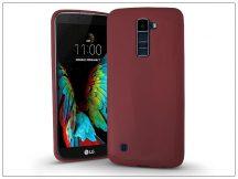 LG K10 K420N szilikon hátlap - Jelly Bright 0,3 mm - burgundy