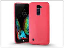 LG K10 K420N szilikon hátlap - Jelly Bright 0,3 mm - pink