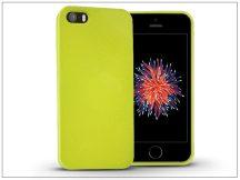 Apple iPhone 5/5S/SE szilikon hátlap - Jelly Flash - zöld