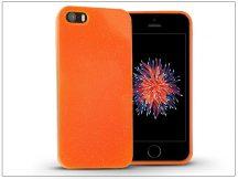 Apple iPhone 5/5S/SE szilikon hátlap - Jelly Flash - narancs
