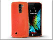 LG K10 K420N szilikon hátlap - Jelly Flash - narancs