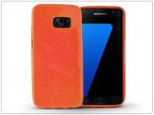 Samsung G930F Galaxy S7 szilikon hátlap - Jelly Flash - narancs