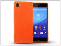 Sony Xperia M4 Aqua (E2303/E2306/E2353) szilikon hátlap - Jelly Flash - narancs