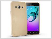 Samsung J320F Galaxy J3 (2016) szilikon hátlap - Jelly Flash - gold