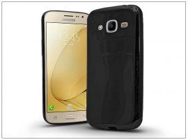 Samsung J210F Galaxy J2 (2016) szilikon hátlap - Jelly Bright 0,3 mm - fekete