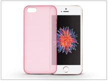 Apple iPhone 5/5S/SE szilikon hátlap - Flexmat 0,3 mm - pink