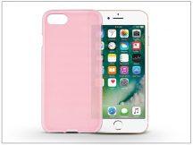 Apple iPhone 7/iPhone 8 szilikon hátlap - Flexmat 0,3 mm - pink