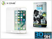Apple iPhone 7 üveg képernyővédő fólia - X-One 3D Full Screen Tempered Glass 0.3 mm - Teljes képernyős - 1 db/csomag - white