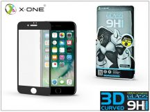 Apple iPhone 7 Plus üveg képernyővédő fólia - X-One 3D Full Screen Tempered Glass 0.3 mm - Teljes képernyős - 1 db/csomag - black