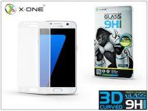 Samsung G930F Galaxy S7 üveg képernyővédő fólia - X-One 3D Full Screen Tempered Glass 0.3 mm - Teljes képernyős - 1 db/csomag - white