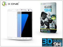 Samsung G935F Galaxy S7 Edge üveg képernyővédő fólia - X-One 3D Full Screen Tempered Glass 0.3 mm - Teljes képernyős - 1 db/csomag - white