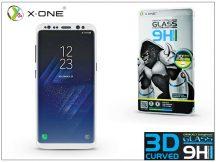 Samsung G950F Galaxy S8 üveg képernyővédő fólia - X-One 3D Full Screen Tempered Glass 0.3 mm - Teljes képernyős - 1 db/csomag - white