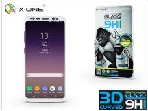 Samsung G955F Galaxy S8 Plus üveg képernyővédő fólia - X-One 3D Full Screen Tempered Glass 0.3 mm - Teljes képernyős - 1 db/csomag - white
