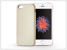 Apple iPhone 5/5S/SE szilikon hátlap - Jelly Flash Mat - gold