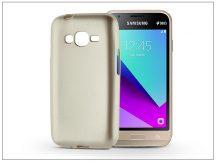 Samsung J130F Galaxy J1 (2017) szilikon hátlap - Jelly Flash Mat - gold