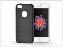 Apple iPhone 5/5S/SE szilikon hátlap - Carbon - fekete