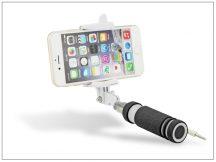Blun Selfie Holder szelfi bot exponáló gombbal, 3,5 mm jack csatlakozóval - fekete/fehér