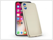 Apple iPhone X szilikon hátlap - Jelly Flash Mat - gold