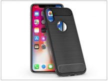 Apple iPhone X szilikon hátlap - Carbon - fekete
