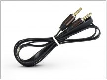 3,5 - 3,5 mm jack audio kábel 1 m-es lapos vezetékkel - fekete