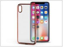 Apple iPhone X szilikon hátlap - Jelly Electro - rose gold