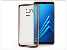Samsung A730F Galaxy A8 Plus (2018) szilikon hátlap - Jelly Electro - rose gold
