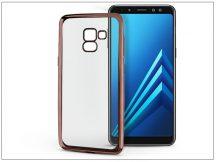 Samsung A530F Galaxy A8 (2018) szilikon hátlap - Jelly Electro - rose gold