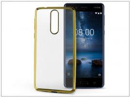 Nokia 8 szilikon hátlap - Jelly Electro - gold