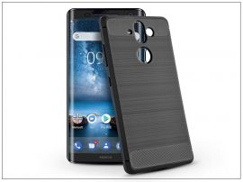 Nokia 9 szilikon hátlap - Carbon - fekete