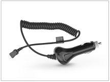 USB Type-C szivargyújtós gyorstöltő spirál kábellel - 5V/2A - fekete