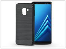 Samsung A530F Galaxy A8 (2018) szilikon hátlap - Carbon - fekete