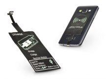 Micro USB Qi adapter vezeték nélküli töltő állomáshoz - Type-A - fekete