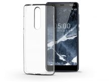 Nokia 5.1 szilikon hátlap - Ultra Slim 0,3 mm - transparent