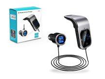 BCFM-39 FM-transmitter - Bluetooth + memóriakártya olvasó + 2xUSB autós töltő - 3,4A - fekete/ezüst