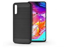 Samsung A705F Galaxy A70 szilikon hátlap - Carbon - fekete