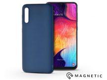 Samsung A505F Galaxy A50 szilikon hátlap beépített fémlappal - Soft Magnetic - kék