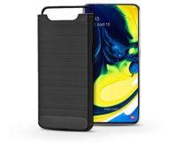 Samsung A805F Galaxy A80 szilikon hátlap - Carbon - fekete