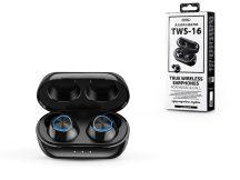 Remax Bluetooth sztereó TWS headset v5.0 + töltőtok - Remax TWS-16 Wireless Headset - black